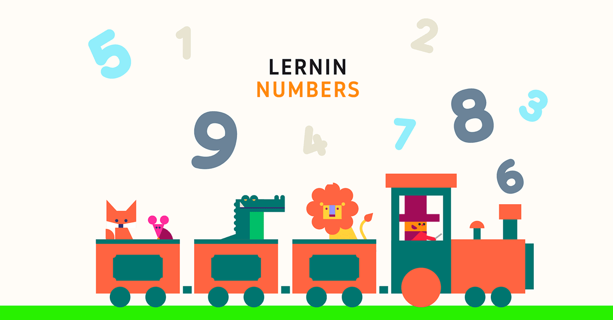 lernin numbers splash screen from lernin blog