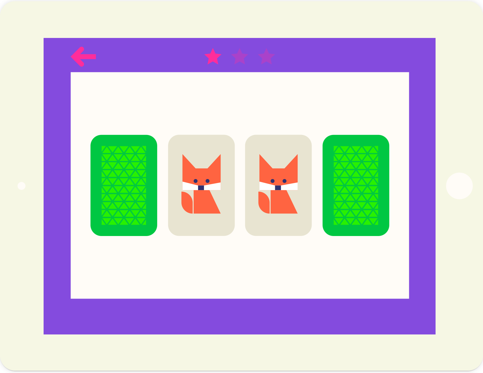 Animals memory educational game, from lernin