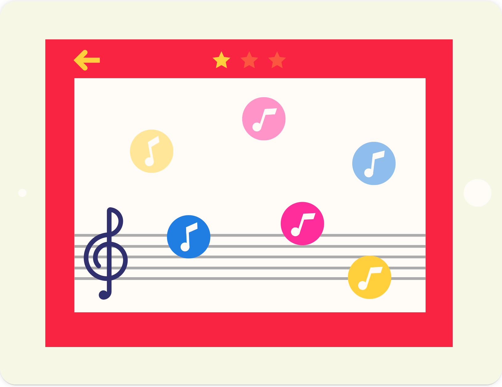 Music Notes Falling: educational music game, from lernin