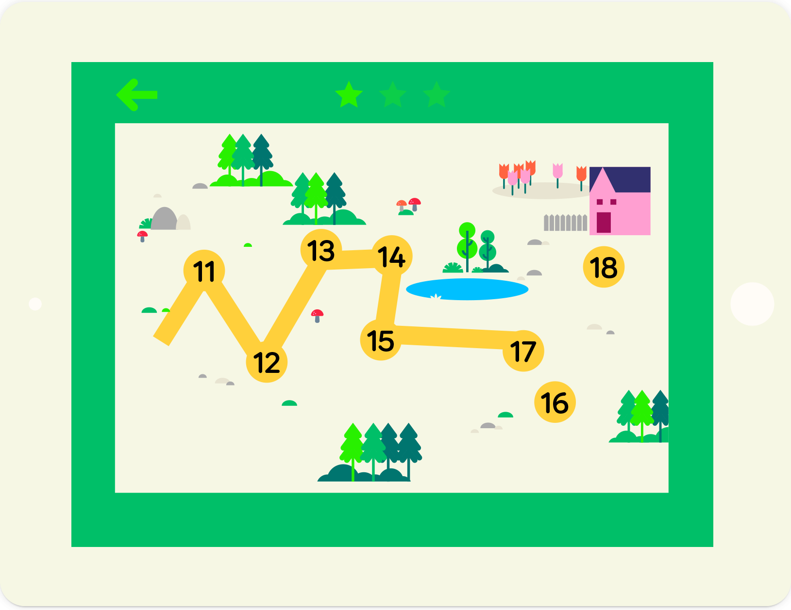 Numbers Find the Path: educational maths game, from lernin