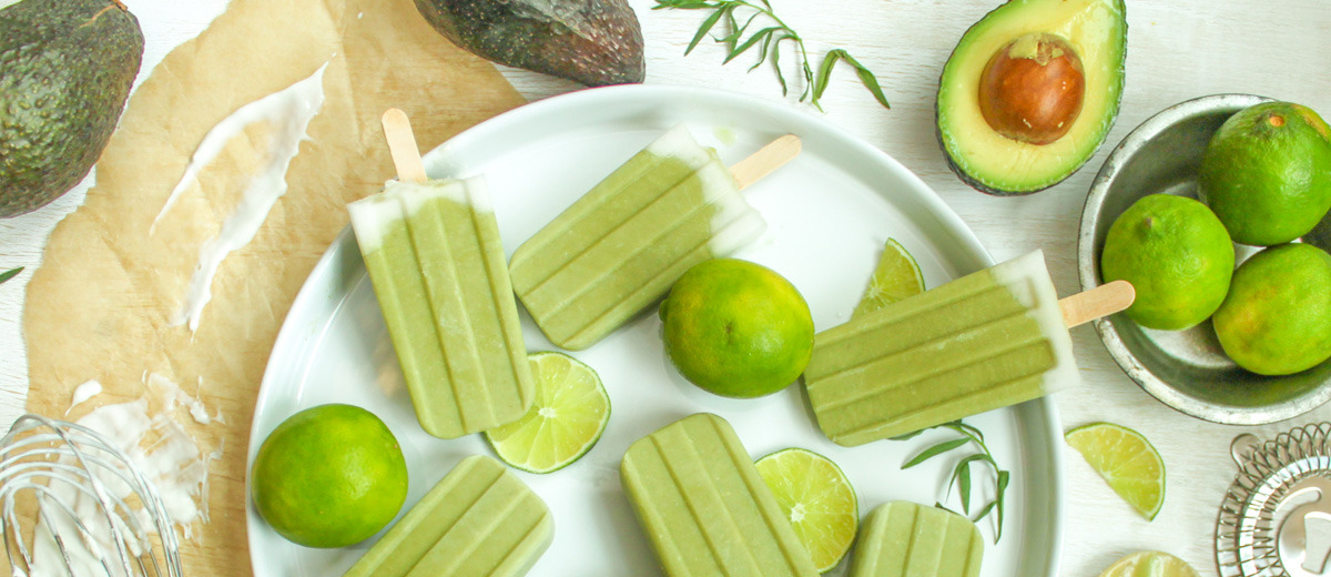 avocado ice-cream lollipops, from ways to sneak veggies into meals, lernin blog